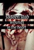 """Обложка книги """"Шестнадцать ножевых ударов в сердце."""""""