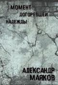 """Обложка книги """"Момент догоревшей надежды"""""""