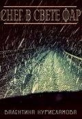 """Обложка книги """"Снег в свете фар"""""""