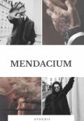 """Cubierta del libro """"Mendacium. """""""