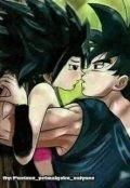 """Cubierta del libro """"Goku y Caulifla amor de saiyajines"""""""