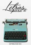 """Cubierta del libro """"Letras para ti"""""""