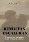 """Cubierta del libro """"Benditas Escaleras."""""""