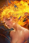 """Обложка книги """"Ведьма Нейр. Огонь. """""""