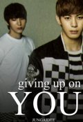 "Book cover ""Giving up on you"""