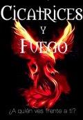 """Cubierta del libro """"Cicatrices y Fuego"""""""