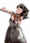 """Обкладинка книги """"Дівчина яка грає на скрипці"""""""