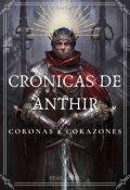"""Cubierta del libro """"Crónicas de Anthir: Coronas y Corazones"""""""