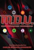 """Cubierta del libro """"M.D.U. Mega Defensores Universales"""""""