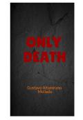 """Cubierta del libro """"Only Death"""""""