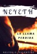 """Cubierta del libro """"Neyeth: La llama perdida. """""""