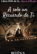 """Cubierta del libro """"A Sólo Un Recuerdo De Ti © Libro Dos de la Serie Olvido"""""""