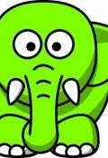 """Обложка книги """"Маленький зелёный слоник"""""""