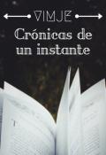 """Cubierta del libro """"Crónicas de un Instante"""""""
