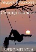 """Обложка книги """"Солнца всплеск. Spero Meliora"""""""