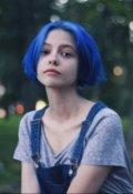 "Обложка книги ""Девочка с синими волосами."""