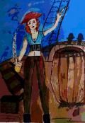 """Обложка книги """"Пиратка поневоле """""""